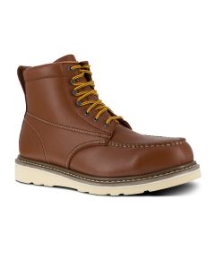 6 INCH BROWN WEDGE BOOT